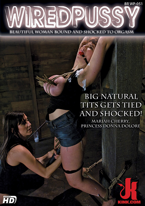 Big Natural Tits Gets Tied And Shocked!