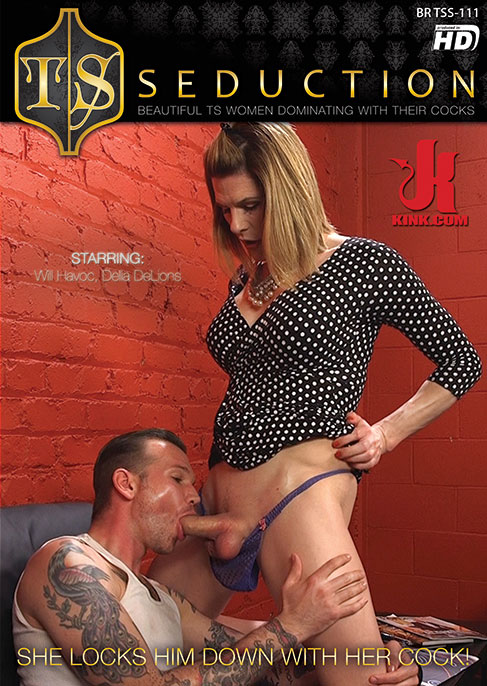 She Locks Him Down With Her Cock!